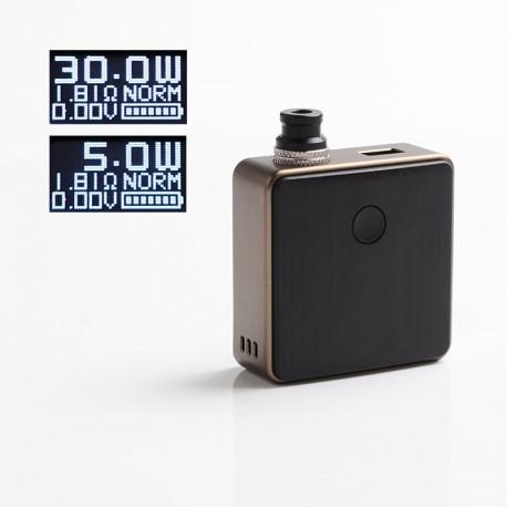 Authentic SXK Bantam Revision 30W VW Variable Wattage Box Vape Mod Kit w/o 18350 Battery - Brown, 5~30W, 1 x 18350, SEVO-30