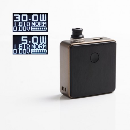 Authentic SXK Bantam Revision 30W VW Variable Wattage Vape Box Mod Kit w/o 18350 Battery - Brown, 5~30W, 1 x 18350, SEVO-30
