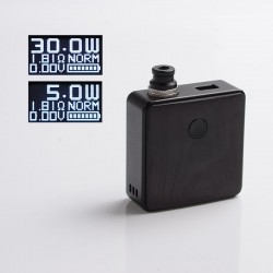 Authentic SXK Bantam Revision 30W VW Variable Wattage Box Vape Mod Kit w/o 18350 Battery - Black, 5~30W, 1 x 18350, SEVO-30