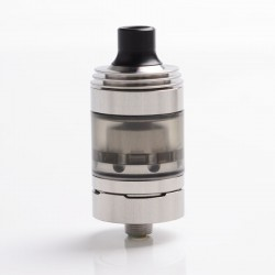 SXK Hussar Style RTA V1.5 Rebuildable Tank Vape Atomizer - Silver, 316 Stainless Steel, 22mm Diameter