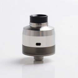 SXK Krma GEN Style DL / MTL RDTA Rebuildable Dripping Tank Vape Atomizer w/ BF Pin - Silver, 316 Stainless Steel, 22mm Diameter