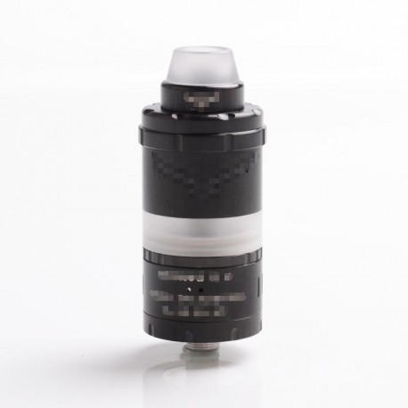 ShenRay Vapor Giant VG Kronos 2S Style DL / MTL RTA Rebuildable Tank Atomizer - Black, 316 Stainless Steel + PC, 4ml, 23mm Dia.