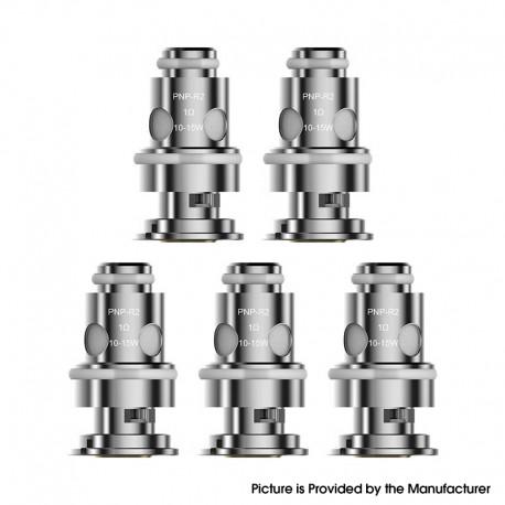 Authentic Voopoo PnP-R2 MTL Regular Coil for Voopoo DRAG Baby/FIND Trio/VINCI/VINCI R/VINCI X - Silver, 1.0ohm (10~15W) (5 PCS)