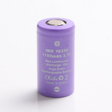 [Ships from Battery Warehouse] IMR 18350 1100mAh 3.7V 10A High Drain Rechargeable Battery for Vape Mod / Mod Kit - Purple