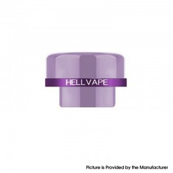 Authentic Hellvape Dead Rabbit V2 RDA Vape Atomizer Replacement Ag+ Anti-bacterial 810 Drip Tip - Lilac, Resin
