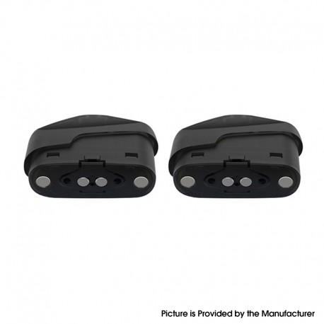 Authentic HCigar KRIS Pod System Vape Kit Replacement Double Filling-Hole Cartridge w/ 1.8ohm Coil - Black, 2ml (2 PCS)