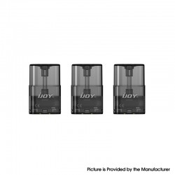 Authentic IJOY LUNA Pod System Vape Kit Replacement Cartridge w/ 1.1ohm Ni80 Coil - Black, 1.4ml (3 PCS)