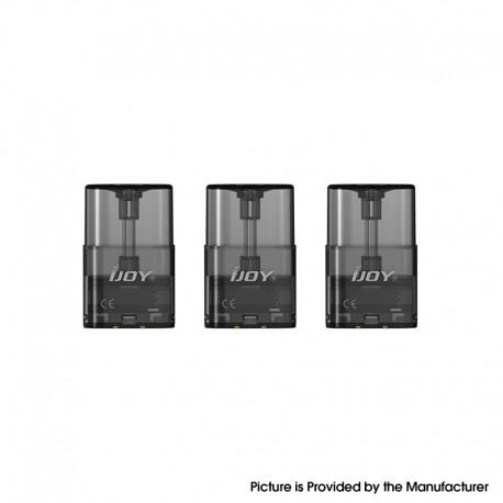 Authentic IJOY LUNA Pod System Vape Kit Replacement Cartridge w/ 1.1ohm Ni80 Coil - Black, 1.4ml (3 PCS)