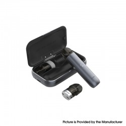 Authentic IJOY MIPO 10.5W 200mAh Pod System Vape Starter Kit w/ 1000mAh Charging Bank Case - Dark Grey, 1.4ml, 1.4ohm