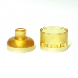 SXK Hussar V1.5 Style RTA Replacement Tank Tube + Top Cap Drip Tip - Brown, PEI