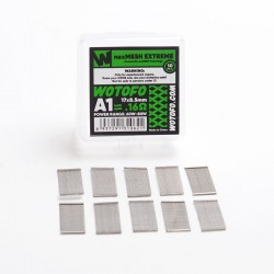 Authentic Wotofo nexMESH Extreme A1 Prebuilt Wire Mesh Sheet for Profile 1.5 RDA - Silver, 0.16ohm (10 PCS)