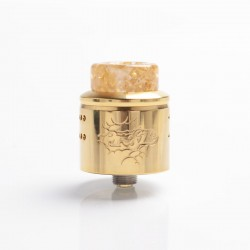 Authentic Wotofo Profile 1.5 RDA Rebuildable Dripping Atomizer w/ BF Pin - Gold, Stainless Steel, 24mm Diameter