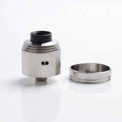 Hussar 2.0 II Style RDA Rebuildable Dripping Vape Atomzier - Silver, Stainless Steel, 22mm Diameter