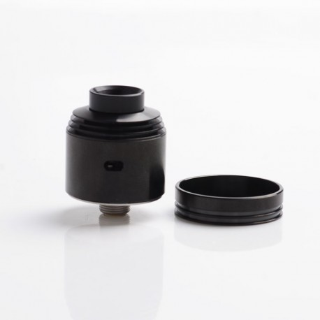 Hussar 2.0 II Style RDA Rebuildable Dripping Vape Atomzier - Black, Stainless Steel, 22mm Diameter