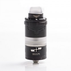 Vapor Giant VG Kronos 2S Style DL / MTL RTA Rebuildable Tank Vape Atomizer - Black, 316SS, 4ml, 23mm Diameter