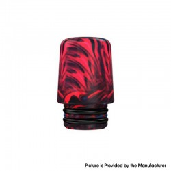 Authentic Mechlyfe Ratel XS 80W Rebuildable AIO Pod Vape Kit Replacement 510 MTL Drip Tip - Red, Resin, 18mm