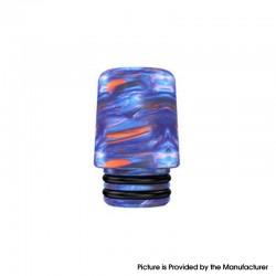 Authentic Mechlyfe Ratel XS 80W Rebuildable AIO Pod Vape Kit Replacement 510 MTL Drip Tip - Blue, Resin, 18mm