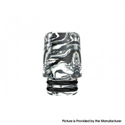 Authentic Mechlyfe Ratel XS 80W Rebuildable AIO Pod Vape Kit Replacement 510 MTL Drip Tip - White, Resin, 18mm