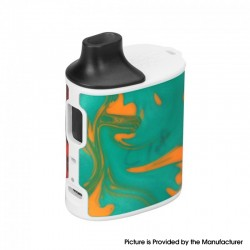 Authentic asMODus Microkin 1100mAh Box Mod Ultra Portable Vape Starter Kit - Green & Red, Plastic, 2ml, 1.0ohm / 1.2ohm
