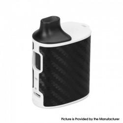 Authentic asMODus Microkin 1100mAh Box Mod Ultra Portable Vape Starter Kit - White & Carbon Fiber, Plastic, 2ml, 1.0ohm / 1.2ohm