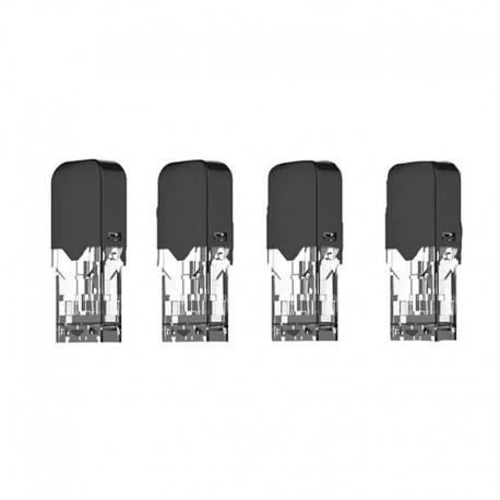 Authentic OVNS JC01 Pod Vape Kit Replacement Pod Cartridges w/ 1.5ohm Coil - Transparent + Black, 0.7ml (4 PCS)