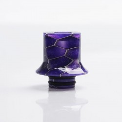 Authentic Reewape AS281S 510 Replacement Drip Tip for RDA / RTA / RDTA / Sub-Ohm Tank Atomizer - Purple, Resin, 18mm