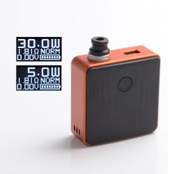 Authentic SXK Bantam Revision 30W VW Variable Wattage Box Vape Mod Kit w/o 18350 Battery - Orange, 5~30W, 1 x 18350, SEVO-30