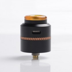 Authentic Acevape Pasopati RDA Rebuildable Dripping Vape Atomizer - Black, Stainless Steel, 25mm Diameter