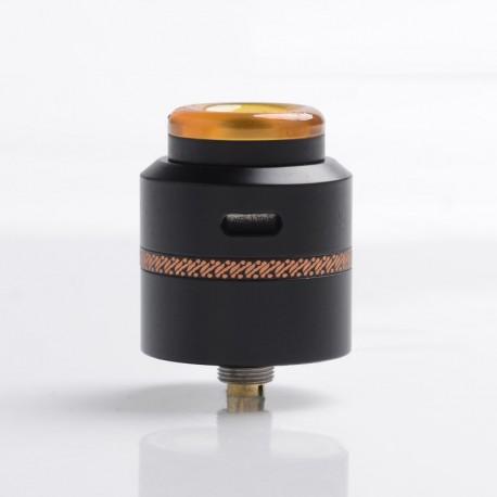 Authentic Acevape Pasopati RDA Rebuildable Dripping Vape Atomizer - Black, Stainless Steel, 25mm Diameter