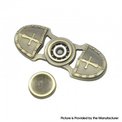 Hand Spinner Fidget Toy Relieves Anxiety Boredom for ADHD / Anxiety / OCD Sufferers - Bronze