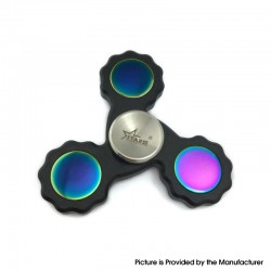Starss Triangle Hand Spinner Toy Relieves Anxiety and Boredom Gear for ADHD / Anxiety / OCD Sufferers - Black