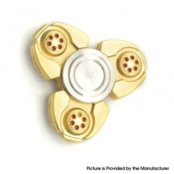 Triangle Hand Spinner Fidget Toy Relieves Anxiety and Boredom for ADHD / Anxiety / OCD Sufferers - Gold