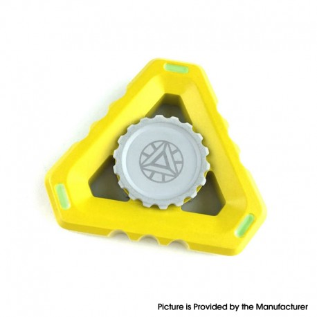Triangle Hand Spinner Fidget Toy Relieves Anxiety and Boredom for ADHD / Anxiety / OCD Sufferers - Yellow