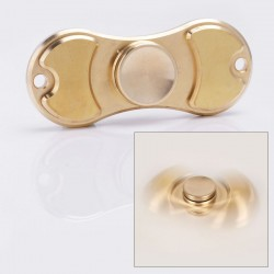 V2 EDC Triangle Hand Spinner Fidget Toy Relieves Anxiety and Boredom for ADHD / OCD Sufferers - Gold, Brass, Ceramic Bearings