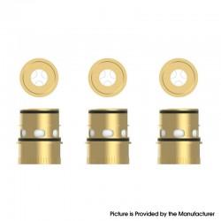 Authentic Vapefly Kriemhild 200W VW Box Mod Vape Kit / Tank Replacement Ni80 Triple Mesh Coil Head - Gold, 0.15ohm (3 PCS)