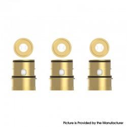 Authentic Vapefly Kriemhild 200W VW Box Mod Vape Kit / Tank Replacement KA1 Dual Mesh Coil Head - Gold, 0.2ohm (3 PCS)