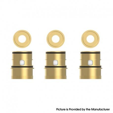 Authentic Vapefly Kriemhild 200W VW Box Mod Vape Kit / Tank Replacement Ni80 Single Mesh Coil Head - Gold, 0.2ohm (3 PCS)