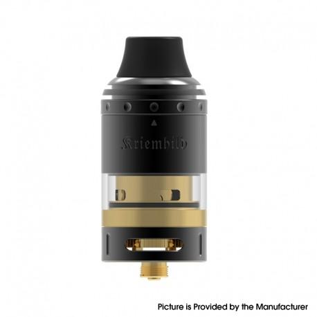 Authentic Vapefly Kriemhild Sub Ohm Tank Vape Atomizer Clearomizer - Black Gold, SS + Derlin + Glass, 5ml, 26mm Diameter