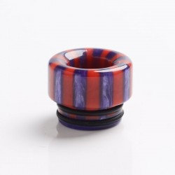 Authentic Reewape AS144 Replacement 810 Drip Tip for 528 Goon / Kennedy / Battle / Mad Dog RDA - Purple + Red, Resin, 12mm