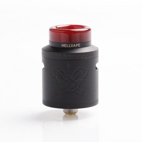 [Ships from Germany] Authentic Hellvape Dead Rabbit V2 RDA Rebuildable Dripping Atomzier w/ BF Pin - Matte Full Black, 24mm Dia