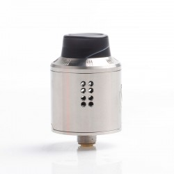 Authentic Dovpo Variant RDA Rebuildable Dripping Vape Atomizer w/ BF Pin - Silver, Stainless Steel, 25mm Diameter