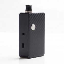 Authentic Hugo Vapor Planet 45W Box Mod Pod System Starter Kit - Black Carbon, 3ml, 0.4ohm / 1.4ohm, 1 x 18650