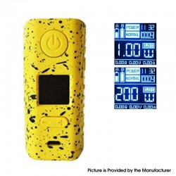 Authentic Hugo Vapor Rader ECO 200W VV VW Variable Wattage Box Vape Mod - Black + Yellow, Zinc Alloy + ABS, 1~200W, 2 x 18650