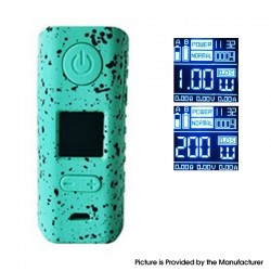 Authentic Hugo Vapor Rader ECO 200W VV VW Variable Wattage Box Vape Mod - Black + Teal, Zinc Alloy + ABS + SS, 1~200W, 2 x 18650