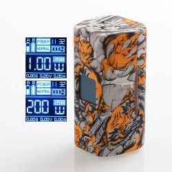 Authentic Hugo Vapor Rader ECO 200W VV VW Variable Wattage Box Vape Mod - Tiger, Zinc Alloy + ABS + SS, 1~200W, 2 x 18650