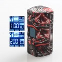Authentic Hugo Vapor Rader ECO 200W VV VW Variable Wattage Vape Box Mod - Red Skull, Zinc Alloy + ABS + SS, 1~200W, 2 x 18650
