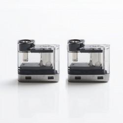 Authentic Vaporesso Degree Pod Kit Replacement Pod Catridge w/ 0.6ohm Meshed Coil - Black, 2ml (2 PCS)
