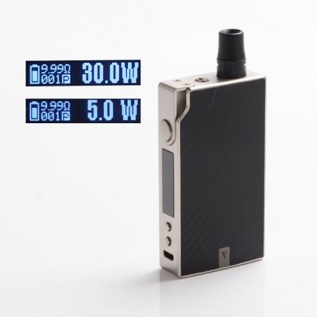 Authentic Vaporesso Degree Meshed 30W 950mAh VW Box Mod Pod System Starter Kit - Silver Carbon Fiber, 2ml, 5~30W