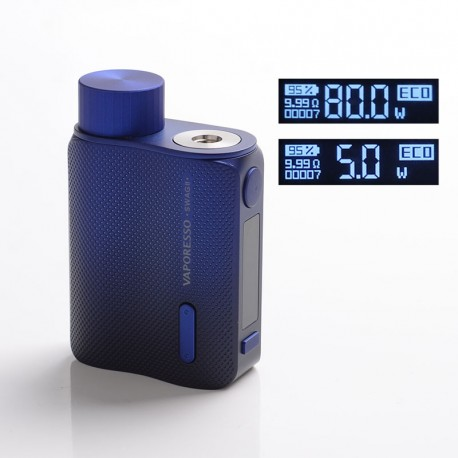Authentic Vaporesso SWAG II 2 80W Variable Wattage Box Mod - Blue, 5~80W, 0.03~5.0ohm, 1 x 18650
