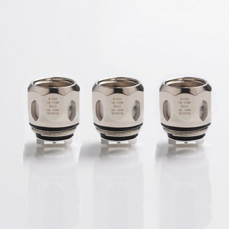 Authentic Vaporesso Replacement GT4 Mesh Coil for SWAG II Kit - Silver, 0.15ohm (50~75W) (3 PCS)